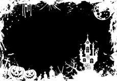 Grunge Halloween frame Stock Image