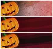 Grunge Halloween Headers or Banners Stock Photography