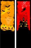 Grunge Halloween Hintergründe lizenzfreie abbildung