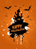 Grunge Halloween house background Stock Photos