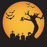 Grunge Halloween night background Stock Photo