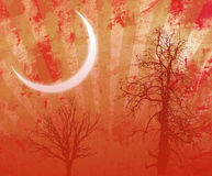 Grunge Halloween Night Background Royalty Free Stock Photo