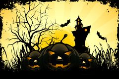 Grunge Halloween Party Background Stock Photography