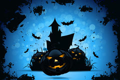 Grunge Halloween Party-Hintergrund Stockbilder