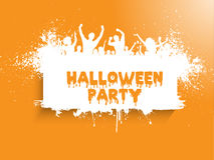 Grunge Halloween Party-Hintergrund lizenzfreie abbildung