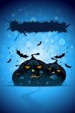 Grunge Halloween Party-Schablone Stockbild
