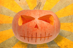 Grunge Halloween pumpkin Royalty Free Stock Images