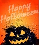 Grunge Halloween pumpkin background Stock Photos