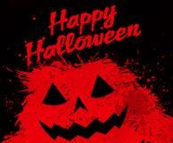 Grunge Halloween pumpkin background Royalty Free Stock Image