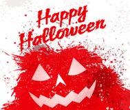 Grunge Halloween pumpkin background Royalty Free Stock Images