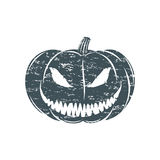Grunge Halloween pumpkin. Isolated on white background. Vector illustration Stock Photo