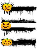 Grunge Halloween Ränder vektor abbildung