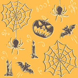 Grunge Halloween seamless pattern Royalty Free Stock Photo