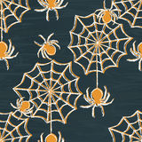 Grunge Halloween seamless pattern Royalty Free Stock Photos