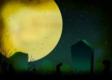 Grunge Halloween starry night royalty free illustration
