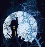 grunge Halloween szczęśliwy plakat Fotografia Stock