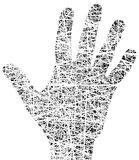 Grunge hand Royalty Free Stock Images