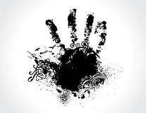 Grunge hand Stock Photography