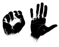 Grunge hand clipart, scanography Stock Photo