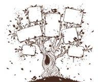 Grunge hand-dragit träd Fotografering för Bildbyråer