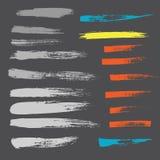 Grunge hand drawn brush stroke vector set. Royalty Free Stock Photos
