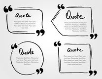 Grunge hand drawn marker blank quote template. Quote bubble with. Lettering and calligraphy . Circle business card, paper sheet, information, text collection Royalty Free Stock Image