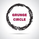 Grunge hand drawn round frame Stock Photography