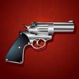 Grunge hand gun background Stock Photography