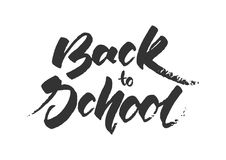 Grunge hand lettering of back to school. Vector illustration: Grunge hand lettering of back to school Stock Photos