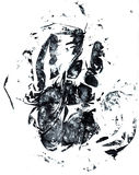 Grunge hand print. Grunge style hand print isolated on white royalty free illustration