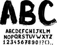 Grunge hand-written typeset Stock Image