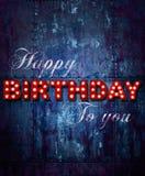 Grunge Happy birthday ship