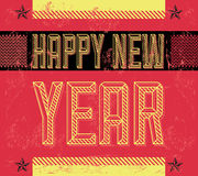 Grunge Happy new year. Card - poster - industrial style - eps 8 available vector illustration