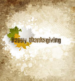 Grunge Happy Thanksgiving Royalty Free Stock Photo