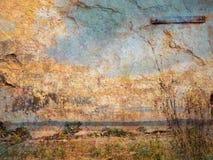 Grunge hav arkivfoto