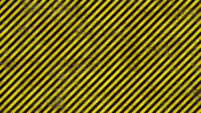 Grunge Hazard Lines. Realistic Grunge Rendering of Black and Yellow Warning Lines Royalty Free Stock Images