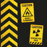 Grunge Hazard Signs Royalty Free Stock Photos
