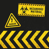 Grunge Hazard Signs Stock Photography