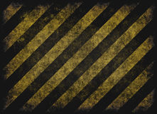 Grunge hazard stripes Stock Photo