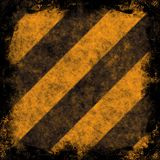 Grunge Hazard Stripes Royalty Free Stock Image