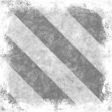 Grunge Hazard Stripes Stock Image