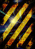 Grunge Hazard Stripes royalty free illustration