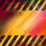Grunge Hazard Stripes Stock Image