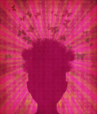 Grunge head silhouette Royalty Free Stock Image