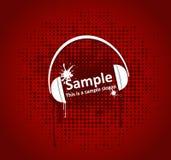 Grunge headphones royalty free stock photos
