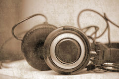 Grunge headphones Royalty Free Stock Photo