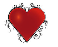 Grunge heart. Red heart with black grunge Royalty Free Stock Image