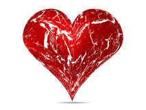 Grunge heart. Red grunge heart vector illustration Royalty Free Stock Photos