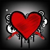 Grunge heart Stock Image