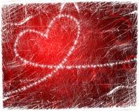 Grunge heart Stock Photography